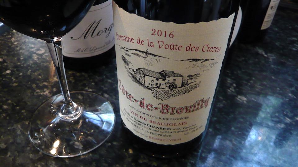 2016 Domaine de la Voûte des Crozes/Nicole et Romain Chanrion Côte-de-Brouilly ($22.00) 92