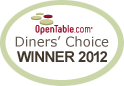 Diners' Choice Award 2012