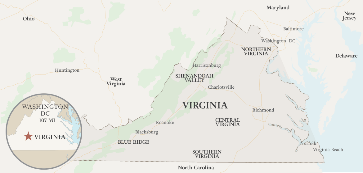 Map of Virginia State