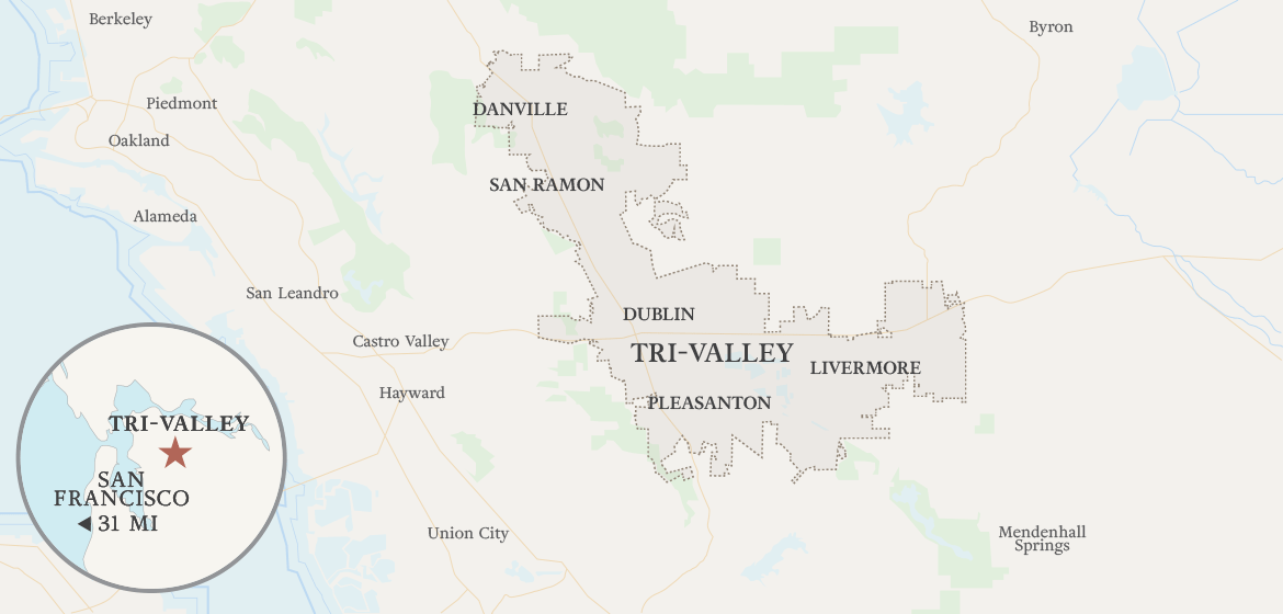 Map of Livermore & Tri-Valley