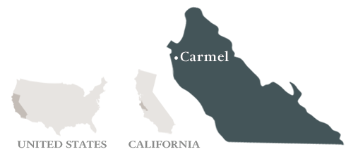 Map of Carmel, CA