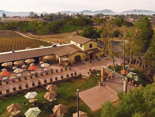 Bel Vino Winery and vineyards in Temecula California