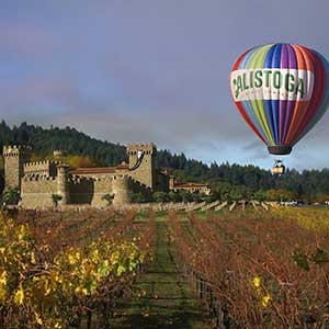 Calistoga Balloons Over a Castle