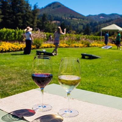 wine tasting and play bocce ball at Landmark Vineyards