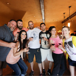 wine tasting with groups
