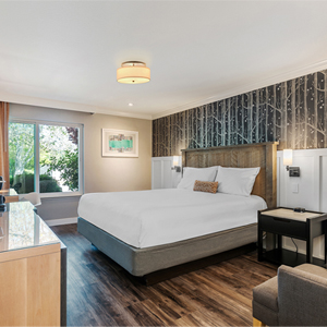newly renovated guestroom at Up Valley Inn in Calistoga
