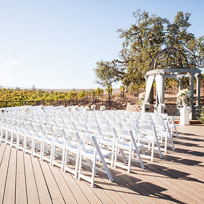 Vineyard Deck, ceremony site at Meritage Resort