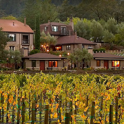 Wine Country Inn property located in St. Helena, Napa Valley CA