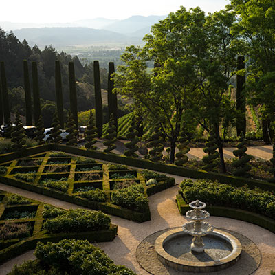 gardens at Newton Vineyard