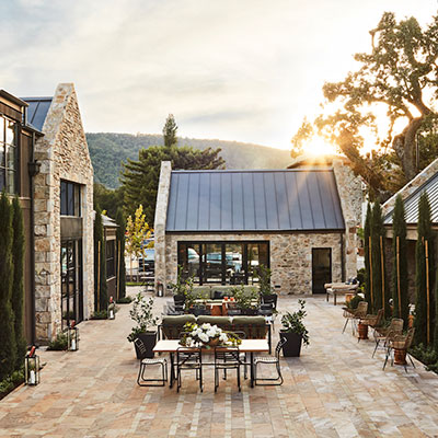 Stewart Cellars courtyard