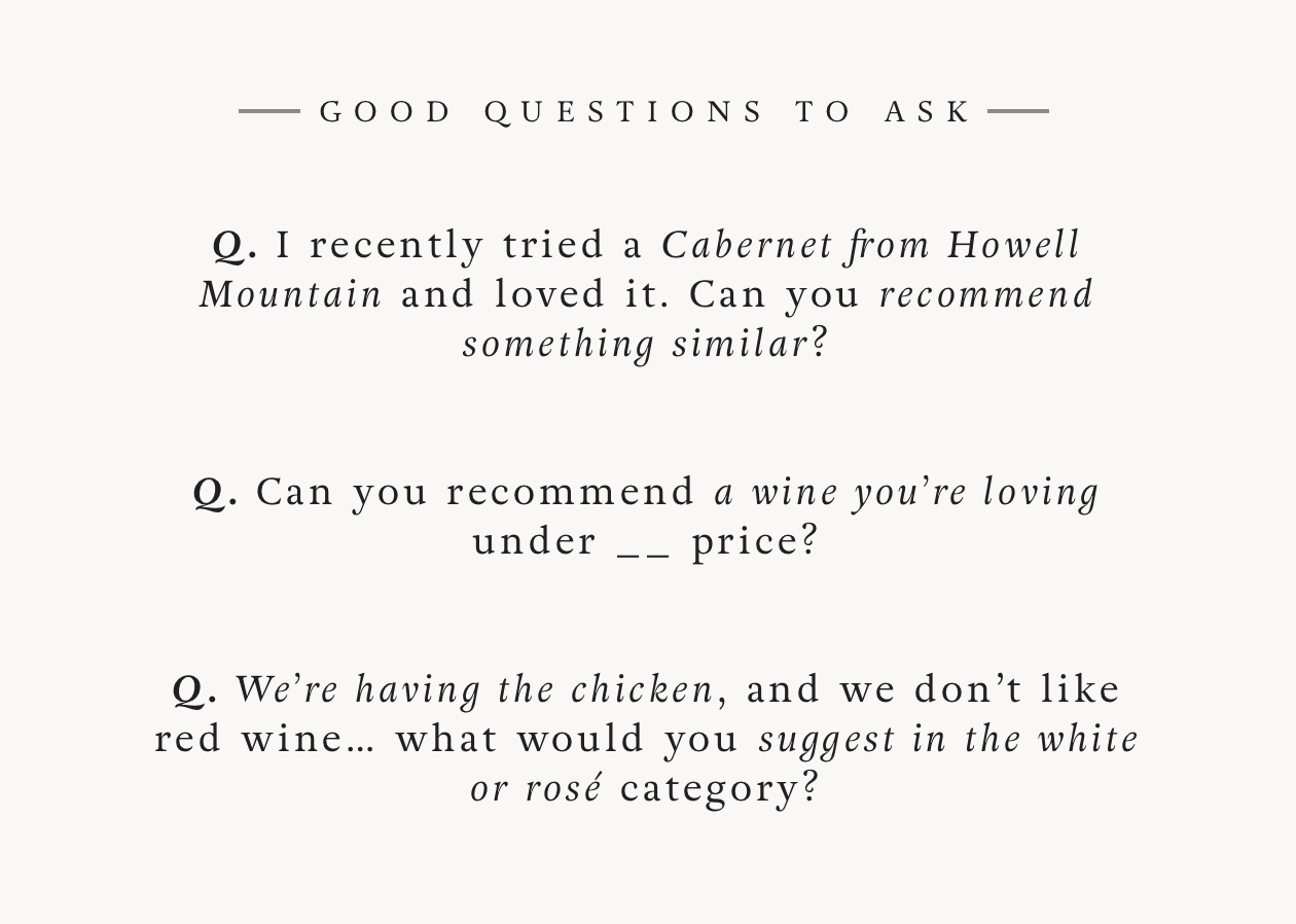 What is a Sommelier? - Good questions to ask