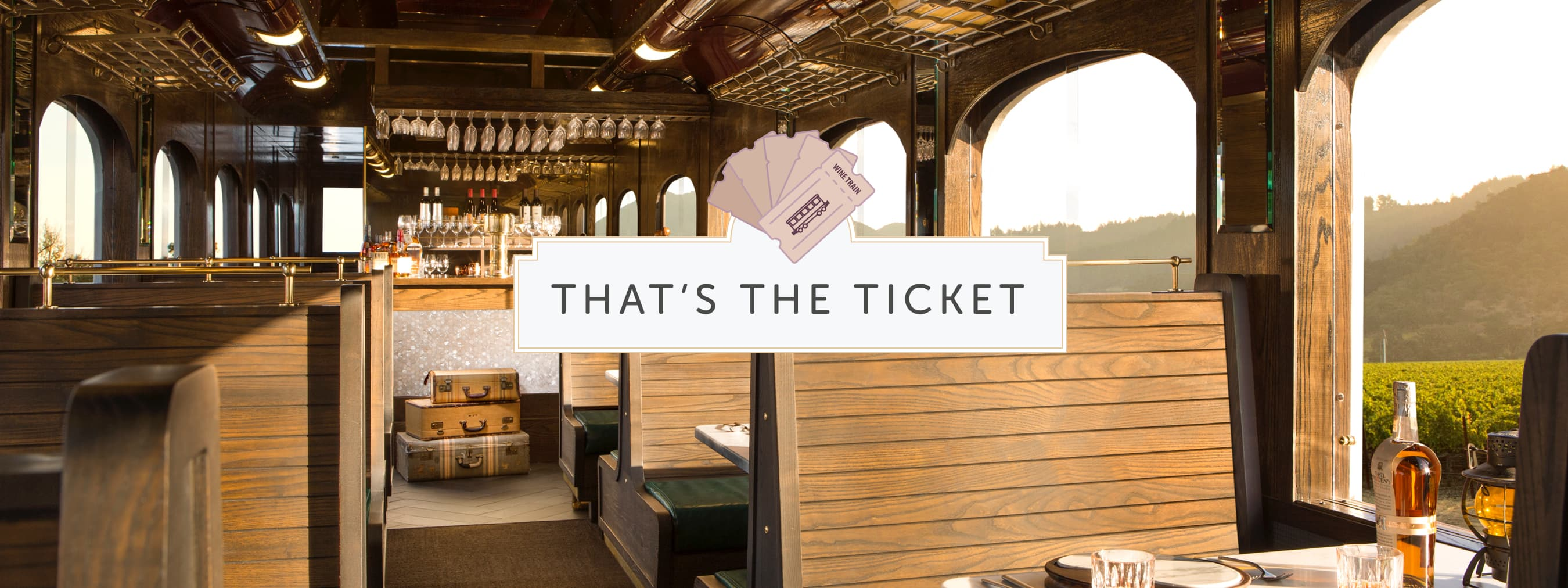WineTrain That's the Ticket Infograph header