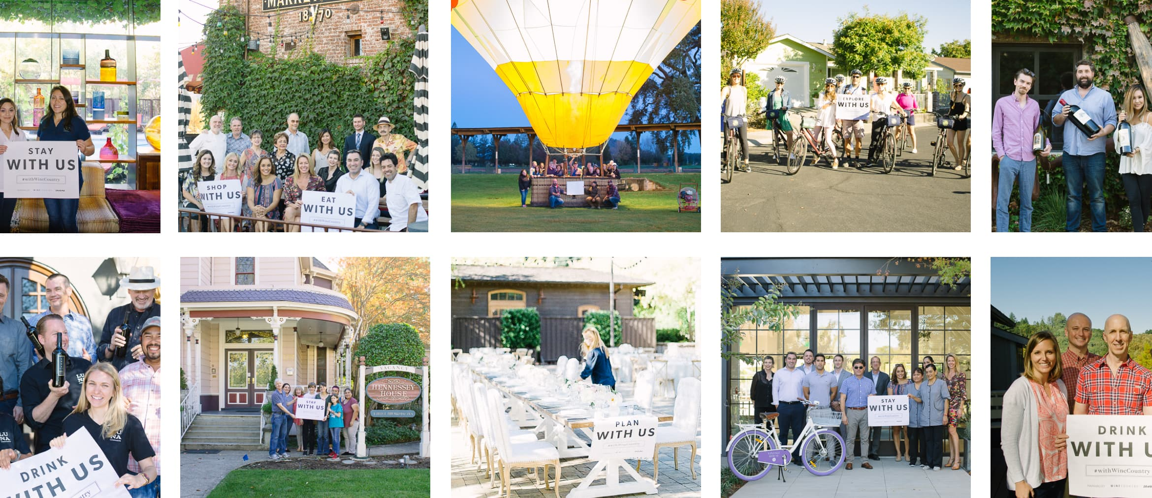 Photos of Wine Country Partners for the With Us Campaign