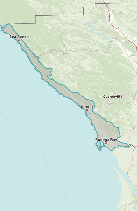 Map of Coastal Sonoma County