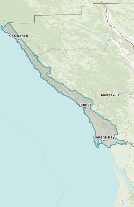Map Of Jenner California.Coastal Sonoma County 2019 Travel Guide Sonoma Com