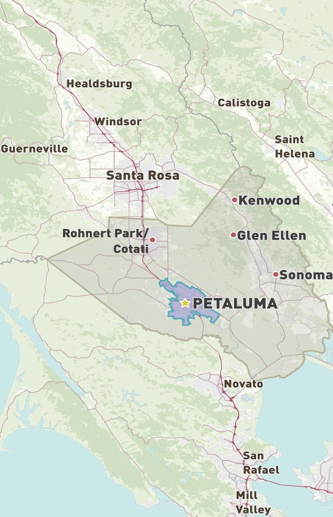 Petaluma Map
