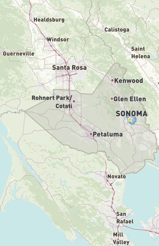 Sonoma, California 2019 Travel Guide - Sonoma.com on detailed map of nevada county, detailed map of kern county, detailed map of ventura county, detailed map of hillsborough county, detailed map of riverside county, detailed map of stanislaus county, detailed map of fresno county, detailed map of orange county,