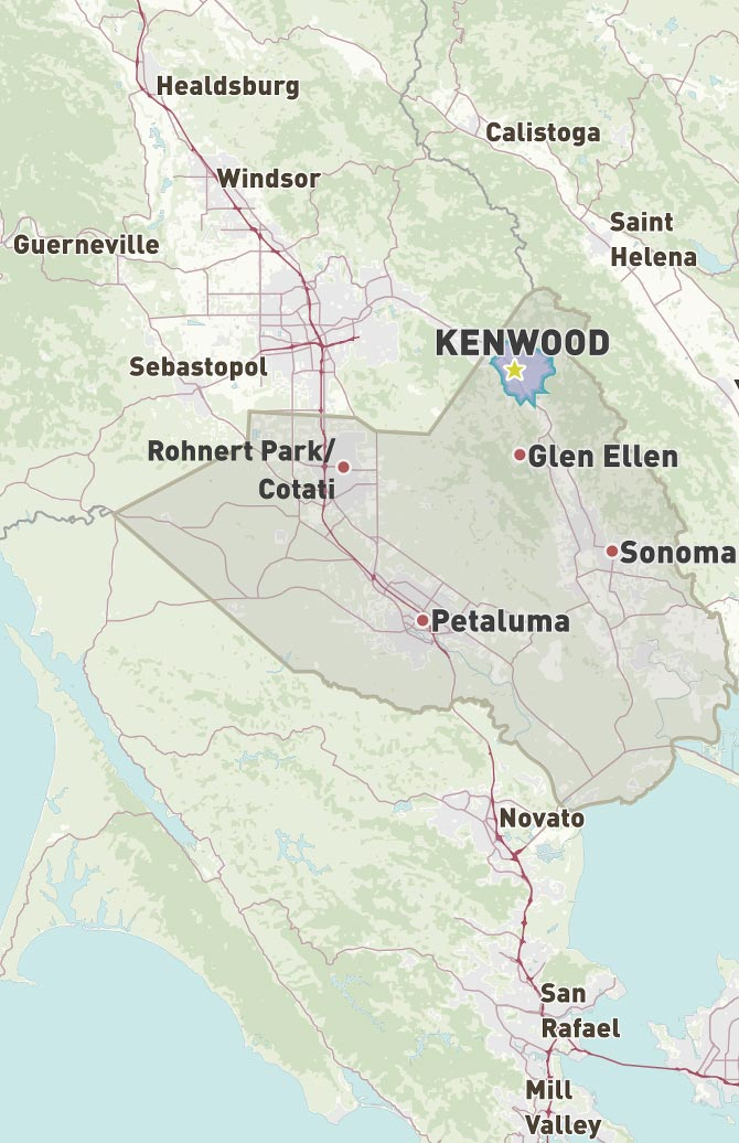Map of Kenwood, CA