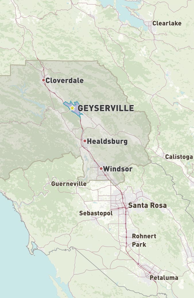 Map of Geyserville
