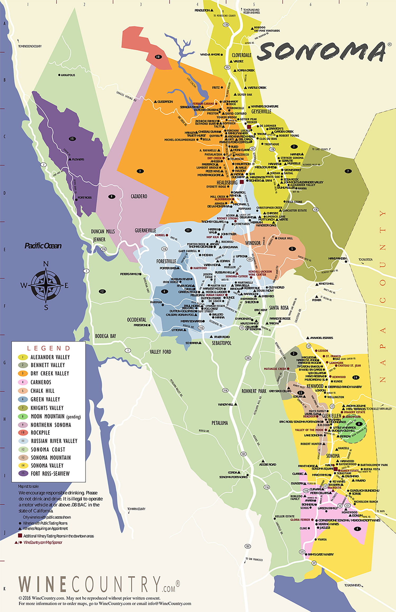 view larger map download pdf. sonoma county wine country maps  sonomacom