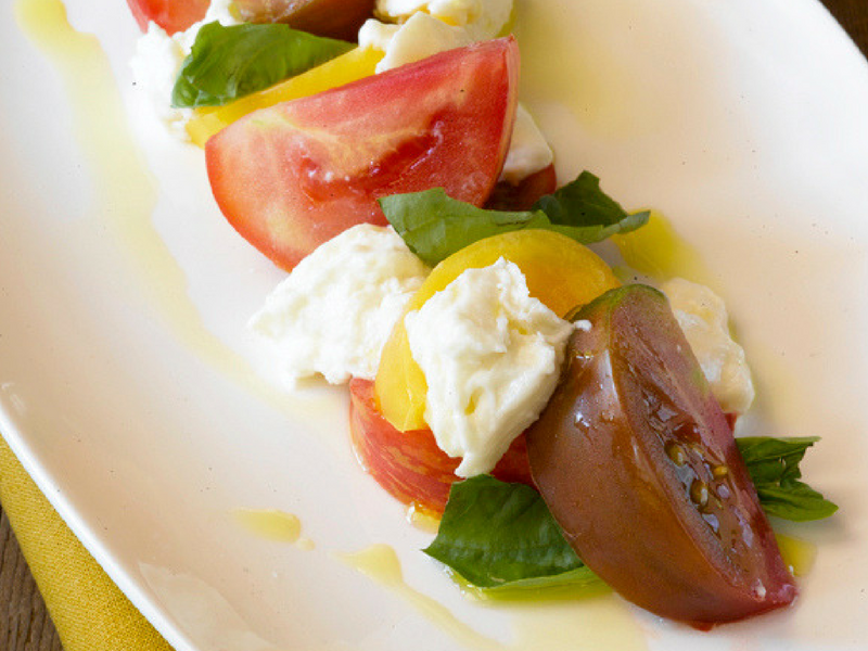 the girl and the fig: Burrata, Heirloom Tomatoes, and Basil