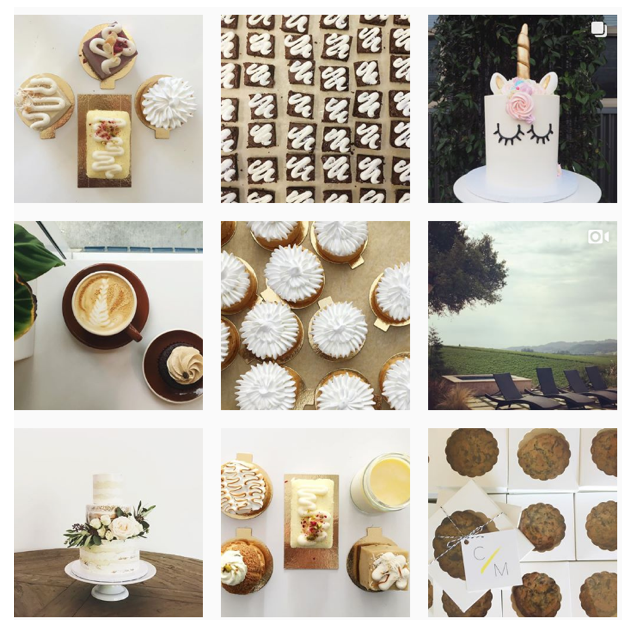 Mustache Baked Goods instagram feed