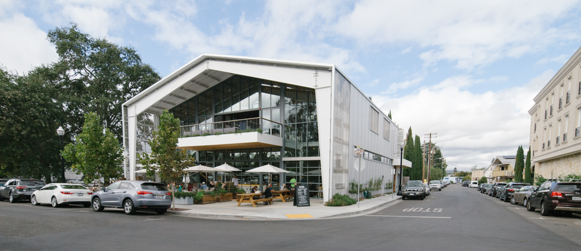 The exterior of the Shed in Healdsburg California