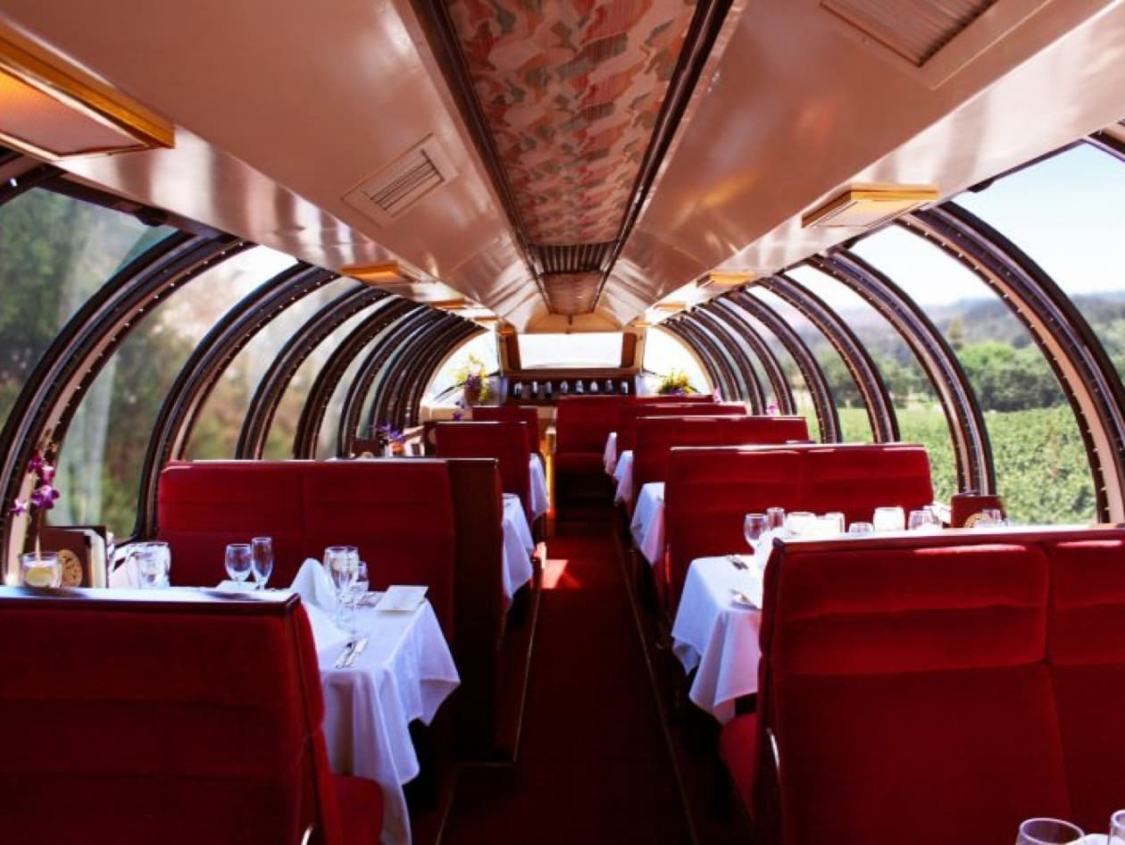 Dining Car of the Napa Valley Wine Train
