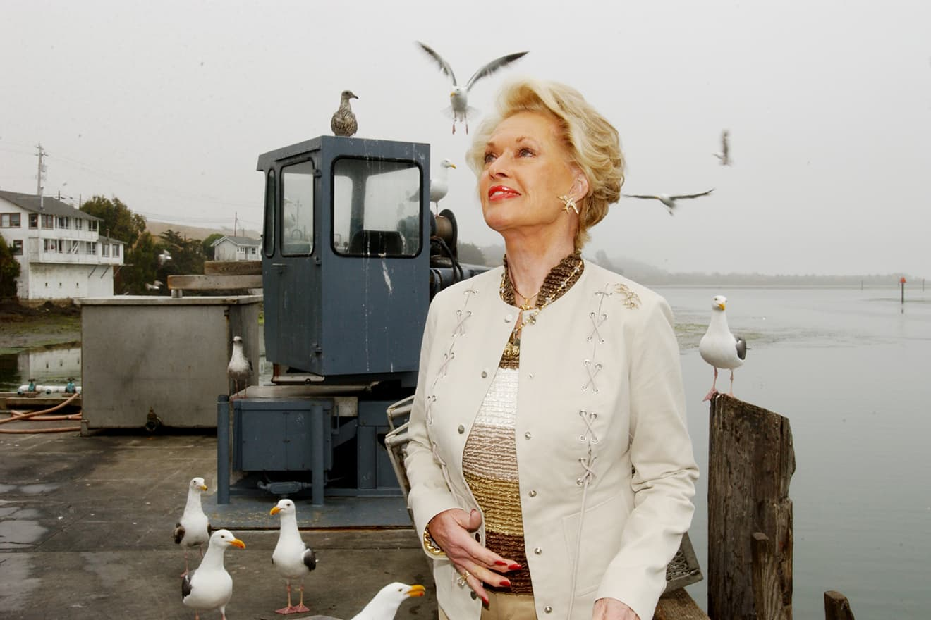 Bodega Bay - Tippi Hedren at the Inn at the Tides - revisiting The Birds