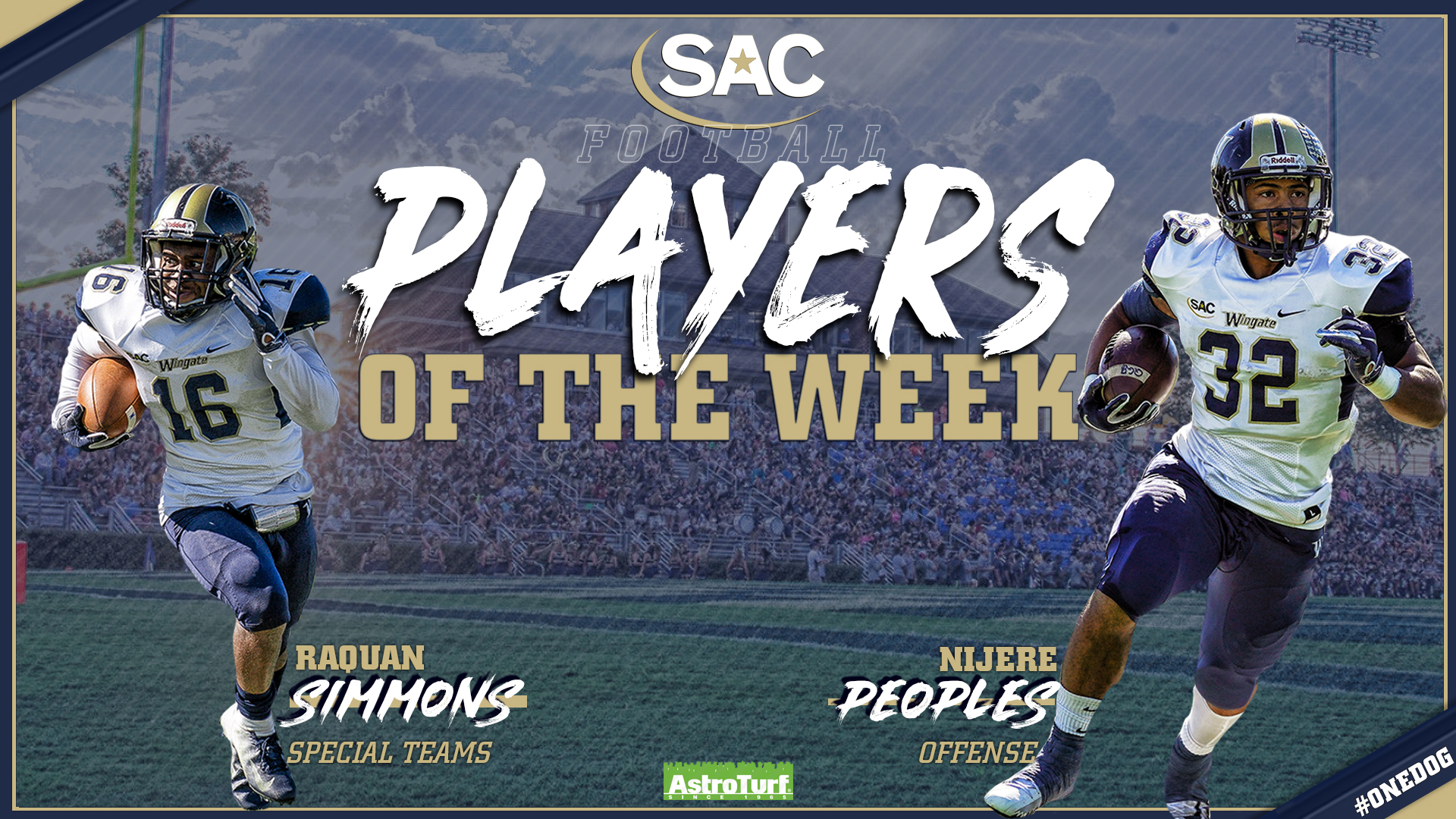 Peoples And Simmons Earn Astroturf Sac Player Of The Week Honors