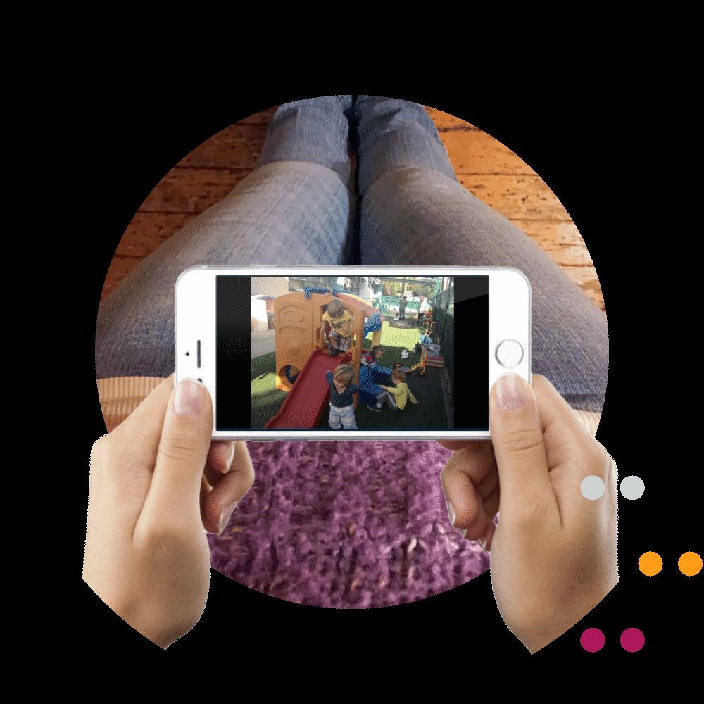 Câmeras de segurança via app do condomínio