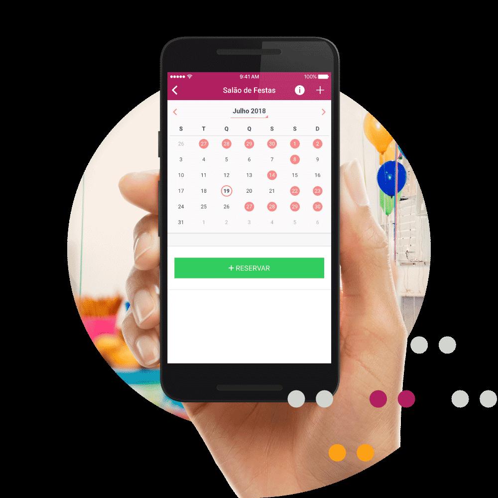 App para reservar espaços como o Salão de Festas