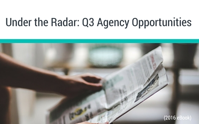 Under the Radar: Q3 Agency Opportunities