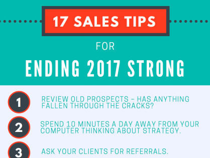 17 Sales Tips for Ending 2017 Strong (Infographic)