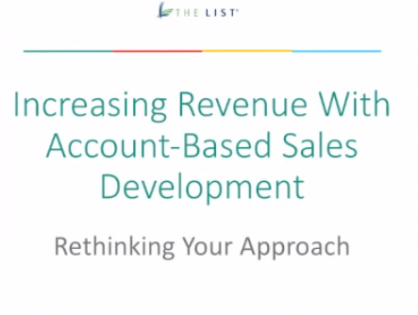 Prospecting Secrets: Increasing Revenue through Account Based Sales Development