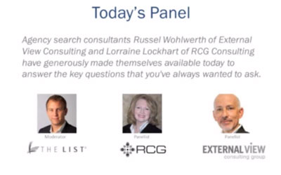 Agency Search Consultant Panel: Advice for New Business