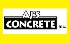 Website for AJ's Concrete Inc.