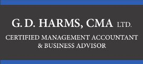 Website for G. D. Harms, Chartered Professional Accountants Ltd.