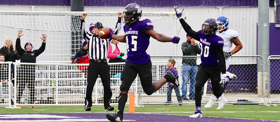 Warriors Plunder Marauders For Homecoming Triumph Winona State