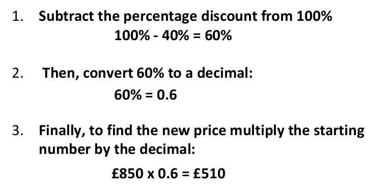 How to work out percentages