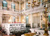 The Touro Synagogue in Newport, Rhode Island, inaugurated in 1763. The building, the oldest Jewish house of worship in the United States, has been declared a national landmark