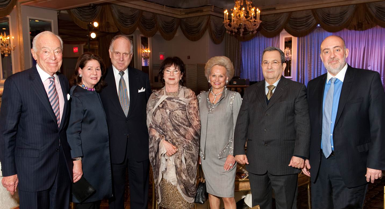 l to r: Leonard A. Lauder, Jo Carole Lauder, Ronald S. Lauder, Nili Barak, Ingeborg Rennert, Ehud Barak & Amb. Ron Prosor