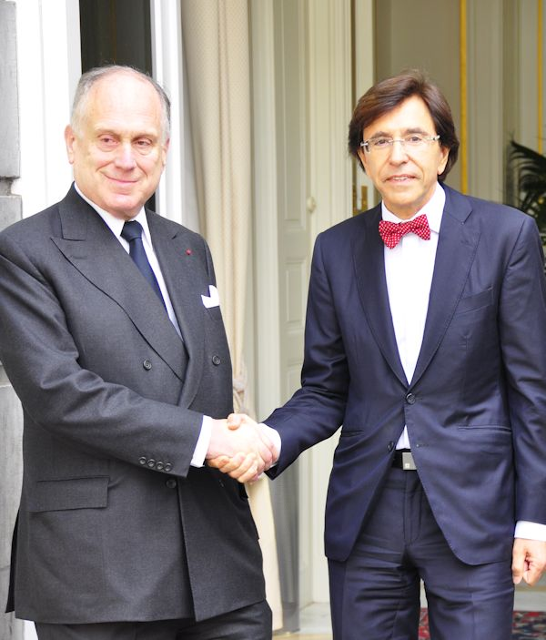 Ronald S. Lauder with Belgian PM Di Rupo