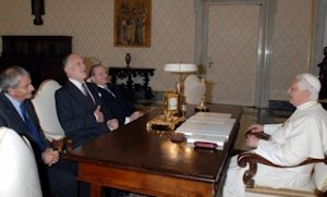 WJC leadership with pope in October 2007