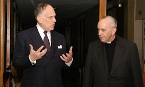 Ronald S. Lauder with Cardinal Bergoglio in 2008