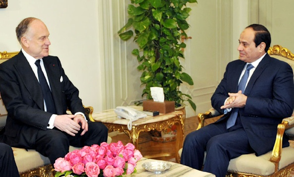 Ronald S. Lauder with Egypt's President al-Sisi