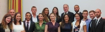 Ronald S. Lauder (last row) with students at Global Campus Initiative launch