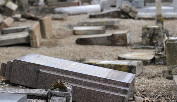 Jewish cemetery of Wolfisheim, France, desecrated in 2010