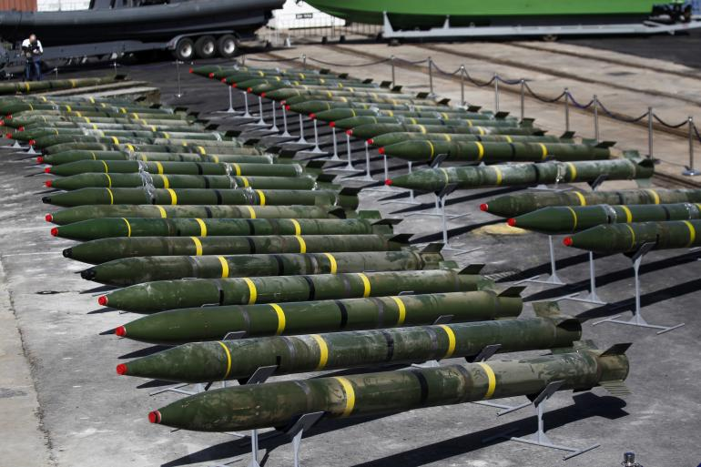 Hamas rockets seized by Israel from a ship on the Red Sea