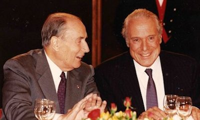 Jean Kahn (right) with French President François Mitterrand
